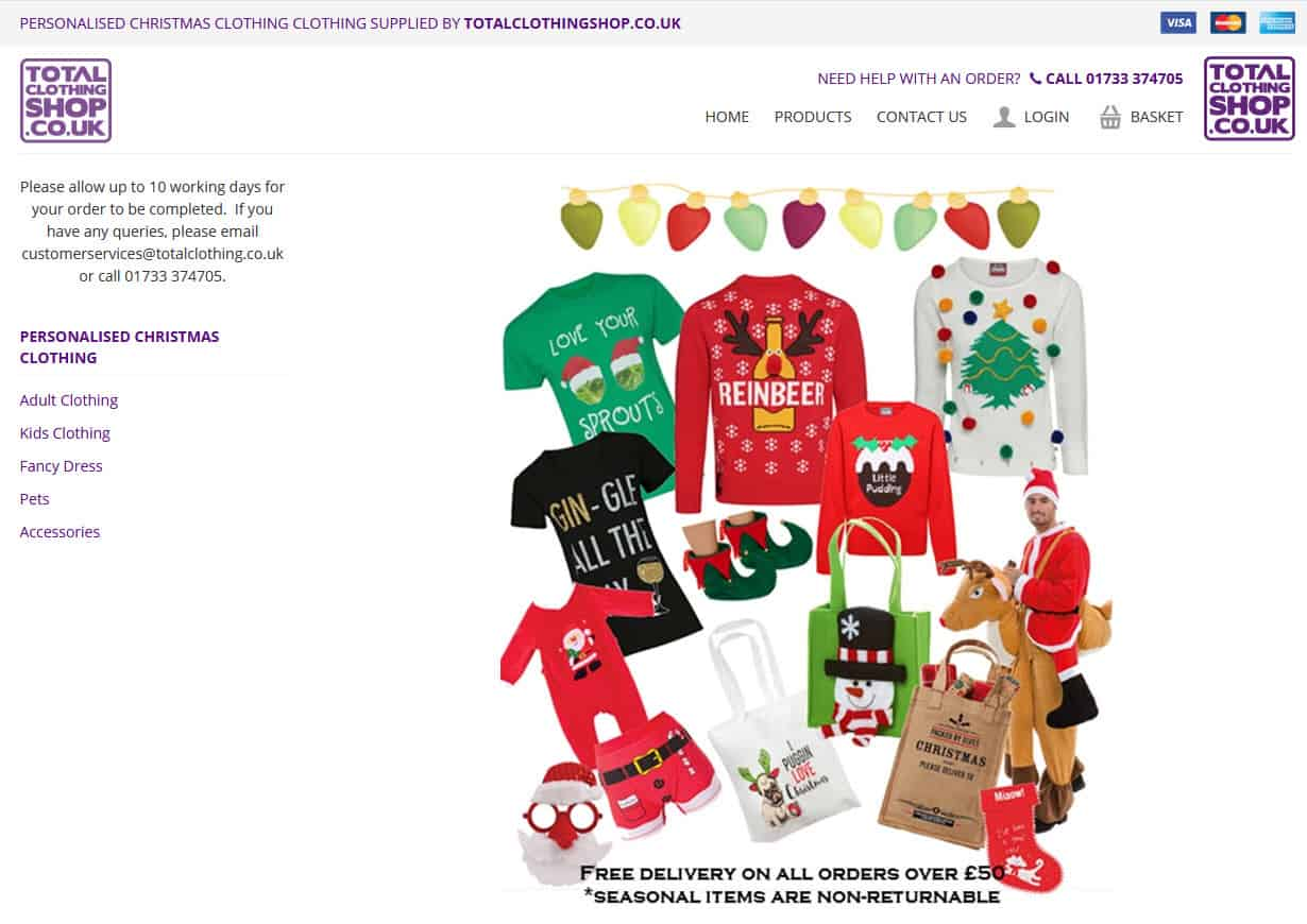 Personalised Christmas Clothing
