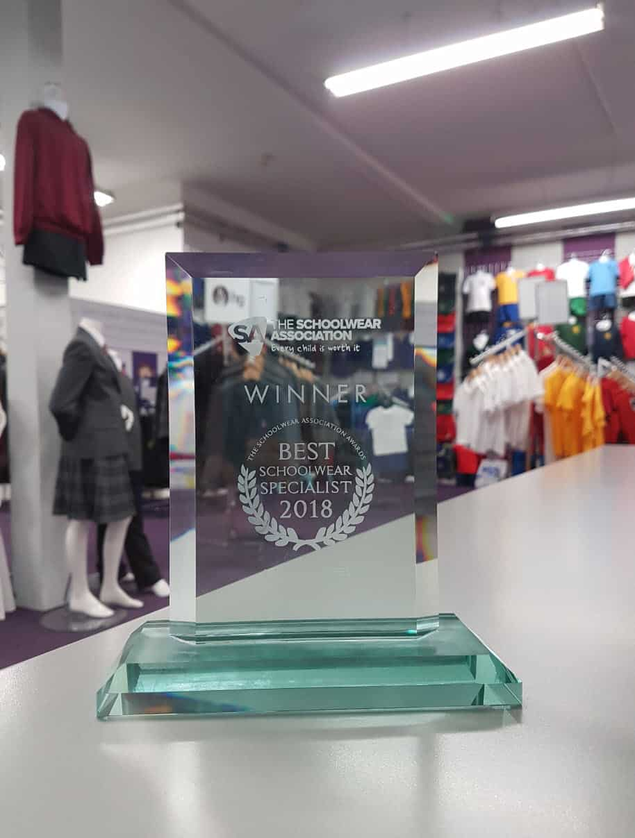Schoolwear Association, Specialist Schoowear Supplier Award Winners 2018